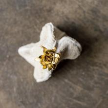 Golden Bloom, porcelain and gold luster, 15,5 x 12,5 x 18 cm, 2020 ©Fondation Bruckner
