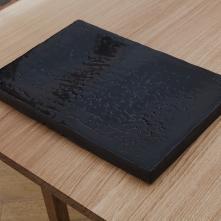 CoCO3 Black, 2017, ceramic, 27 cm × 40 cm x 2cm
