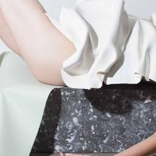 I SINK ON HER - Ceramic drape - 2015 ©Anja Schori