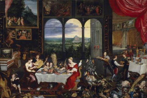 Le goût, l'ouïe et le toucher - Jan Brueghel l'ancien
