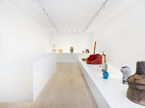 Vue de l'exposition Fire and Clax - Gagosian Gallery - Geneva ©Annick Wetter