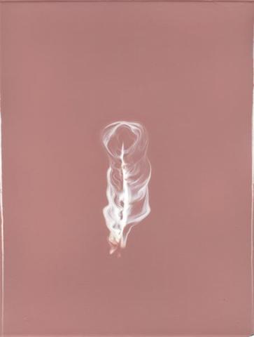 «Elle l'attendait avant de venir» porcelaine, colorants et oxydes (31,5 x 41 x 0,5 cm) 2017